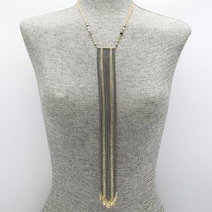 Jewelry - Gold and Black Metal Fringe Collar Necklace Set